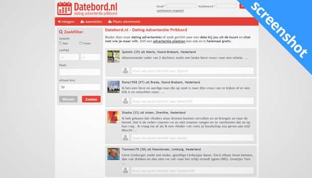 Datebord.nl screenshot