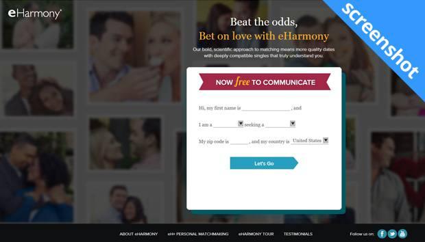 eHarmony screenshot