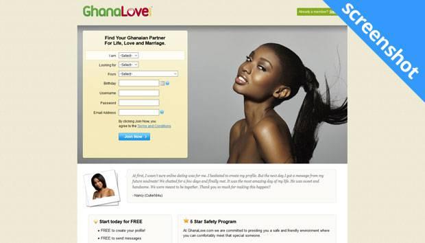 GhanaLove.com screenshot