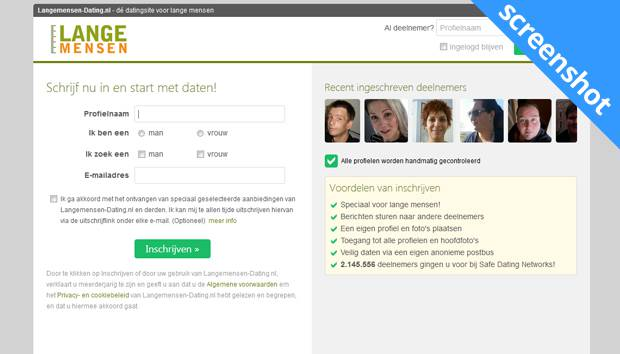 Langemensen-Dating.nl screenshot