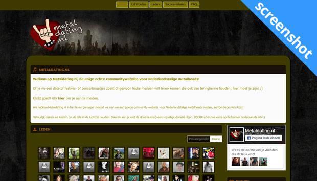 Metaldating.nl screenshot