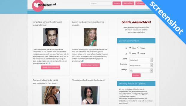 Vindelkaar.nl screenshot