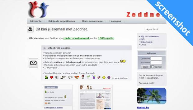 Zeddnet screenshot