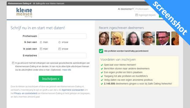 Kleinemensen-Dating.nl screenshot