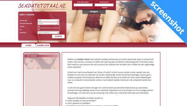 Sexdatetotaal.nl screenshot