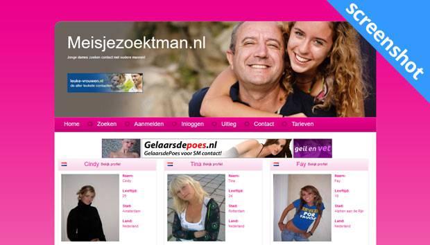 Meisjezoektman.nl screenshot