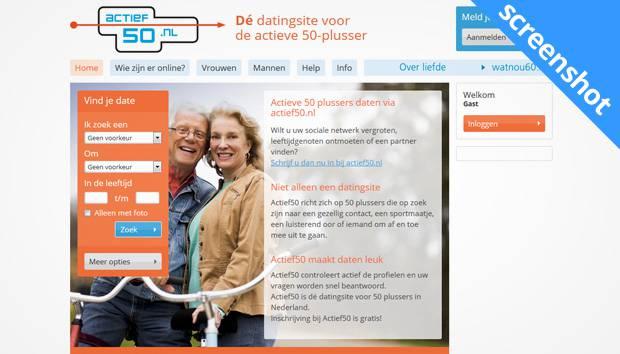 Actief50.nl screenshot