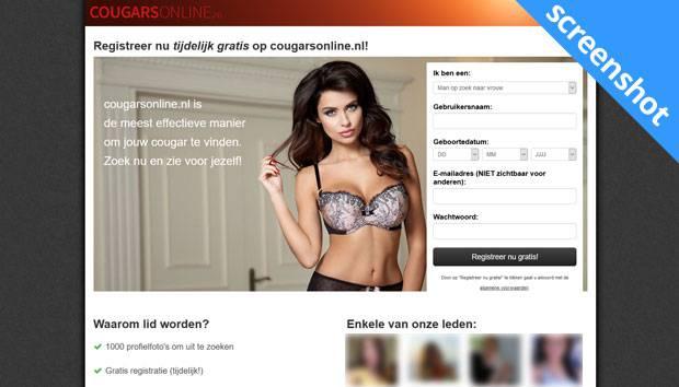 Cougarsonline.nl screenshot