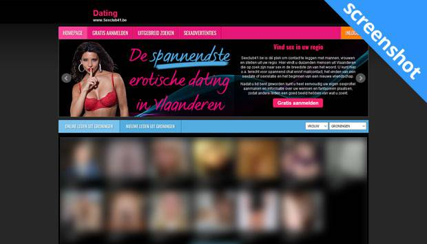 Sexclub41.be screenshot