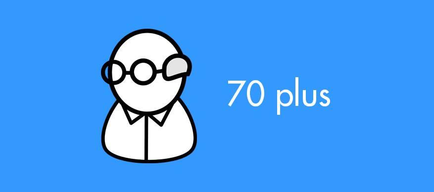 70 plus
