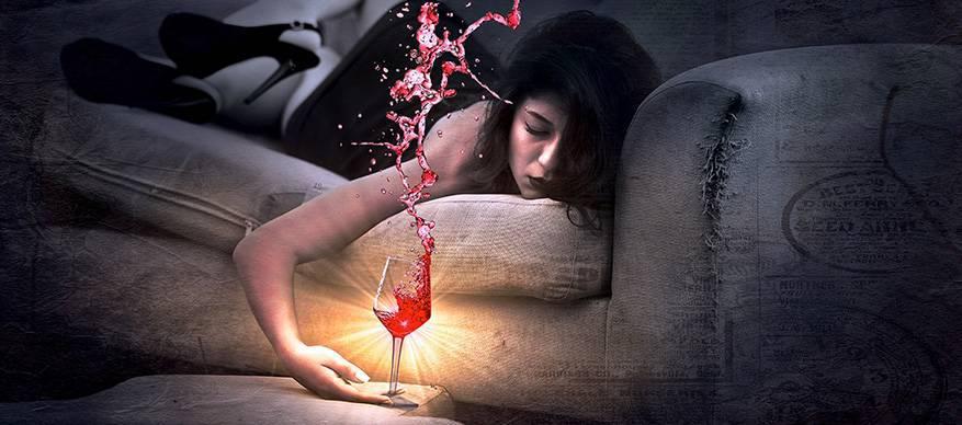 alcohol vrouw