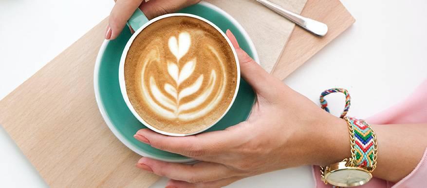 koffie vasthouden