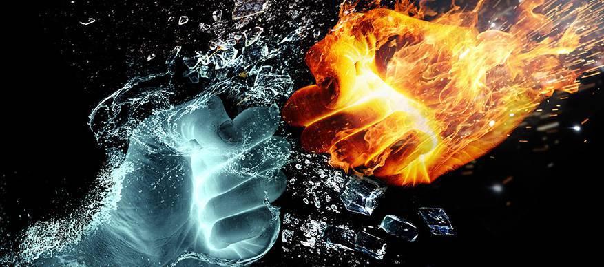 ruzie water vuur