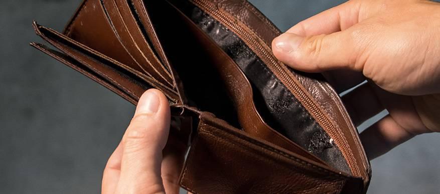 te weinig geld